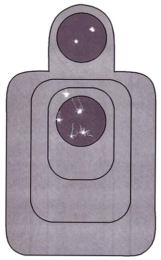 All pistol calibers are inadequate. It will take more hits than you expect to stop a determined attacker.
