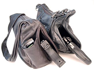 There's a right way and a wrong way to carry a pistol in a purse. This shows a good solution.